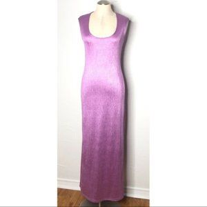 Vintage 90s Y2K lavender maxi dress egirl softgirl